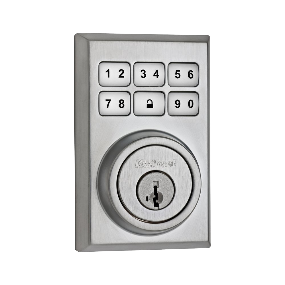 satin chrome door lock